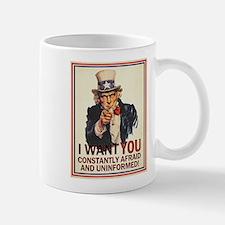 Afraid & Uniformed Mug