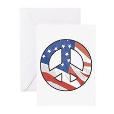 Peace Sign Flag Greeting Cards (Pk of 10)