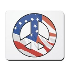 Peace Sign Flag Mousepad