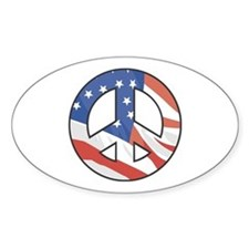Peace Sign Flag Vinyl Decal