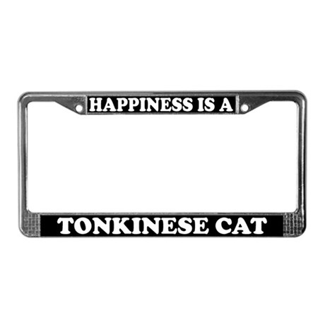 Happiness Is A Tonkinese Cat License Plate Frame