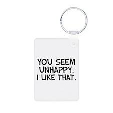 Unhappy Keychains