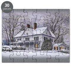 Snow Covered Homestead Puzzle