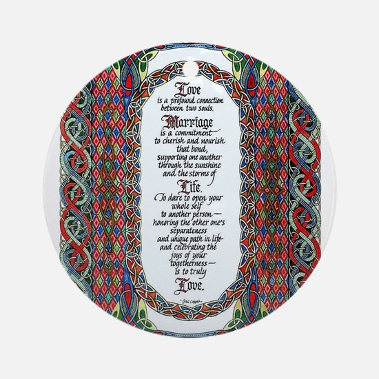 Love and Marriage Ornament (Round)
