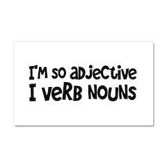Adjective Verb Noun Car Magnet 20 x 12