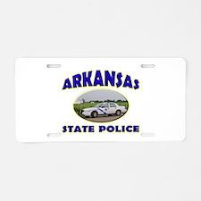 Arkansas State Police Aluminum License Plate