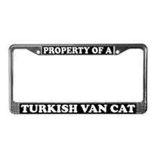 Property Of A Turkish Van Cat License Plate Frame