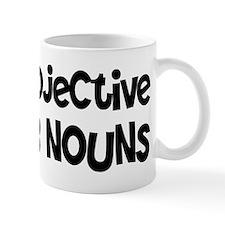 Adjective Verb Noun Mug