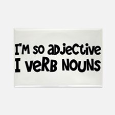 Adjective Verb Noun Rectangle Magnet