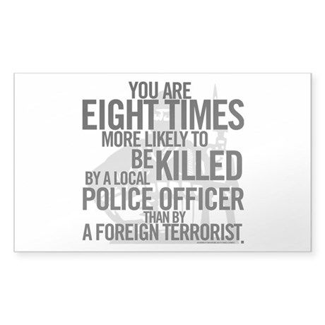 Terrorist Odds Sticker (Rectangle)