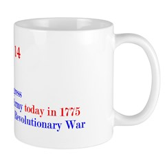 Mug: Continental Congress established the U.S. Arm