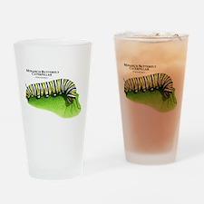 Monarch Butterfly Caterpillar Drinking Glass