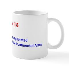 Mug: George Washington was appointed commander-in-