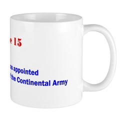Mug: George Washington was appointed commander-in-
