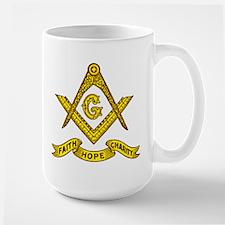 Masonic Faith Hope Charity Emblem Mug
