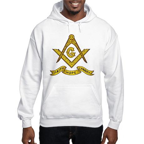 Masonic Faith Hope Charity Emblem Hoodie
