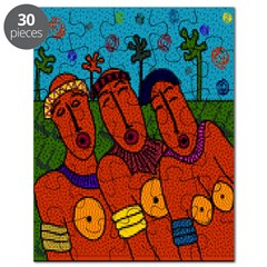 African Folkart Puzzle