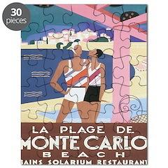 Monte Carlo Vintage Ad Puzzle