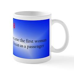 Mug: Aviator Amelia Earhart became the first woman