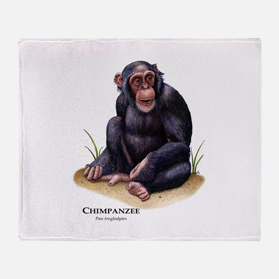 Chimpanzee Throw Blanket