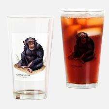 Chimpanzee Drinking Glass