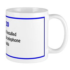 Mug: Alexander Graham Bell installed world's first