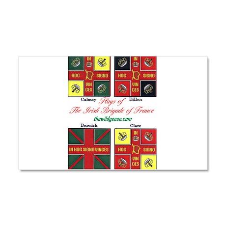 Irish Brigade of France flags - Car Magnet 20 x 12