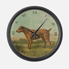 Irish Terrier Large Wall Clock