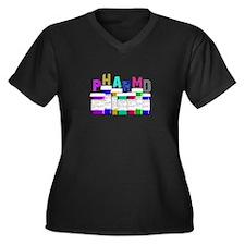 Pharmacy Women's Plus Size V-Neck Dark T-Shirt