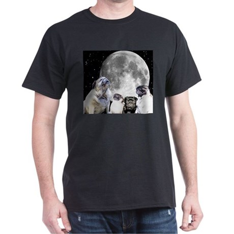 Four Pug Moon Dark T-Shirt