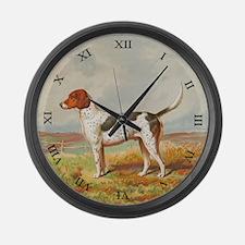 Foxhound Large Wall Clock