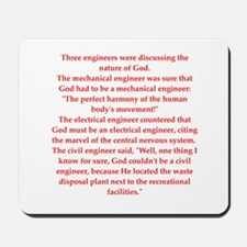 funny engineering jokes Mousepad