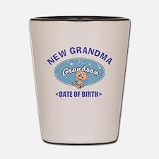 Personalize New Grandma (Birth Date) Shot Glass