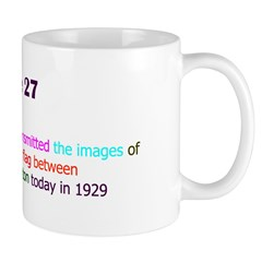 Mug: First color TV demo transmitted the images of