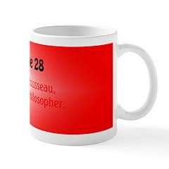 Mug: Jean-Jacques Rousseau, Franco-Swiss philosoph