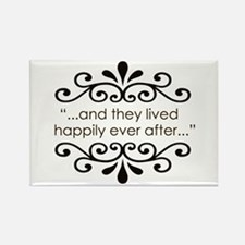 'Happily Ever After' Rectangle Magnet