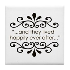'Happily Ever After' Tile Coaster