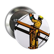"power lineman repairman 2.25"" Button (10 pack)"