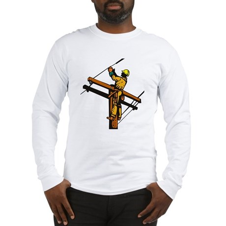 power lineman repairman Long Sleeve T-Shirt
