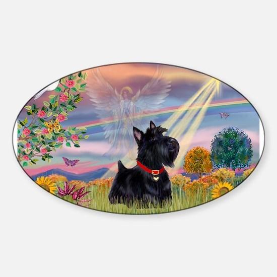 Cloud Angel & Scotty Sticker (Oval)