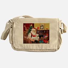 Santa's Sealyham Terrier Messenger Bag