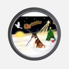 Night Flight/Sheltie #7 Wall Clock