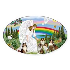 Angel & Five Shelties Decal