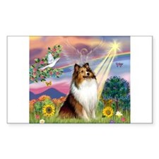 Cloud Angel Sheltie Decal
