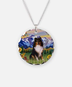 Mt. Country & Tri Shetland Sheepdog Necklace
