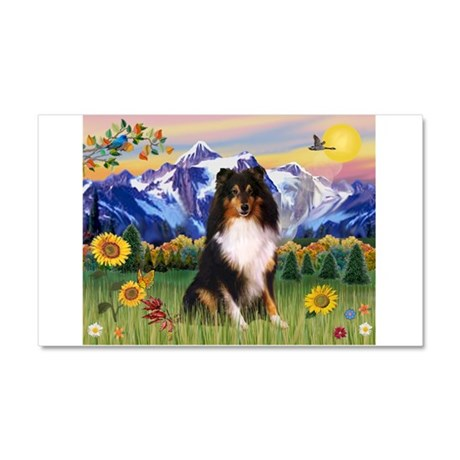 Mt. Country & Tri Shetland Sheepdog Car Magnet 20