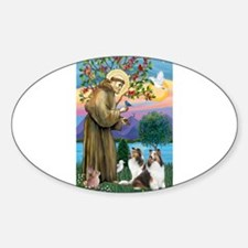St Francis / Two Shelties Decal