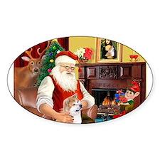Santa's Shiba Inu Decal