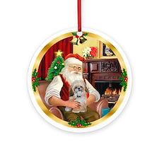 Santa's Shih Tzu (Paddy) Ornament (Round)