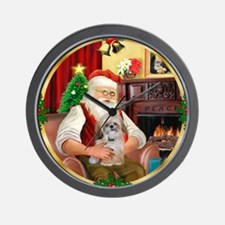 Santa's Shih Tzu (Paddy) Wall Clock